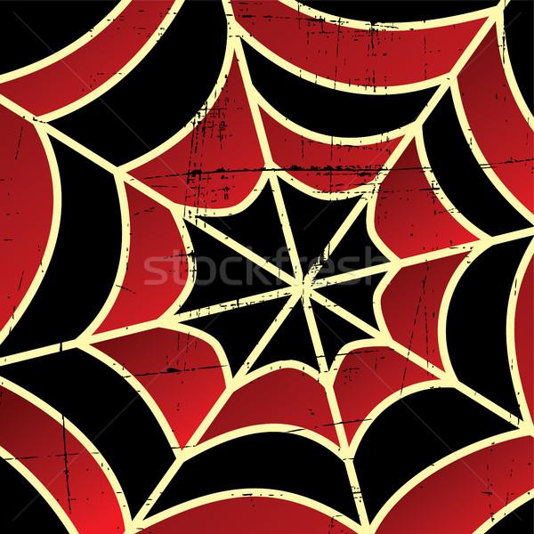 Colorido teia da aranha arte vetor ilustração projeto Foto stock © vector1st