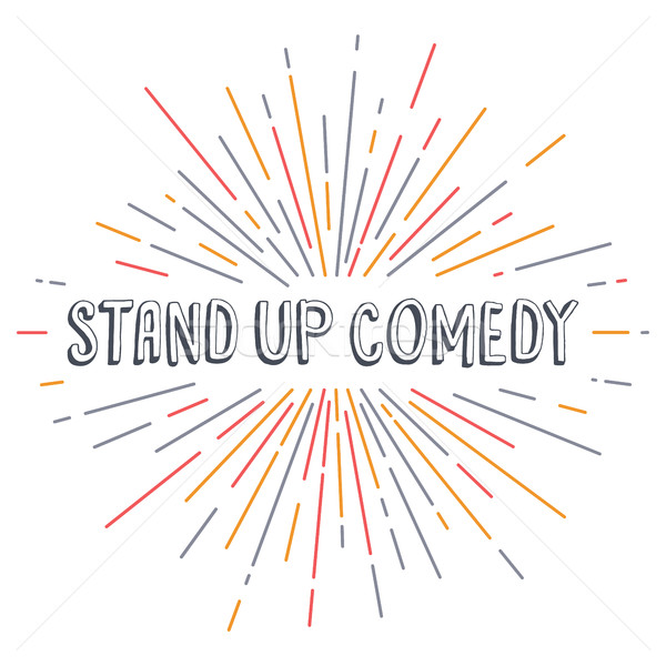 stand up comedy text show sunrays retro theme Stock photo © vector1st