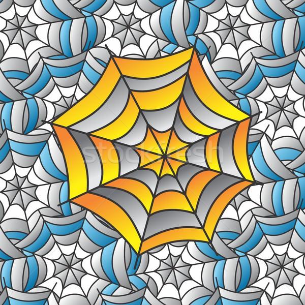 Szín pókháló művészet vektor grafikus illusztráció Stock fotó © vector1st