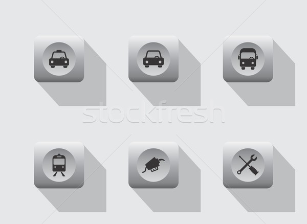 vehicle icon Stock photo © vector1st