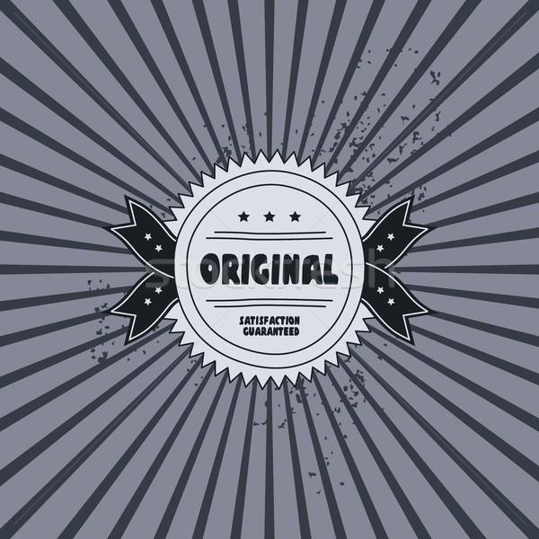 Retro etiqueta plantilla gráfico arte resumen Foto stock © vector1st
