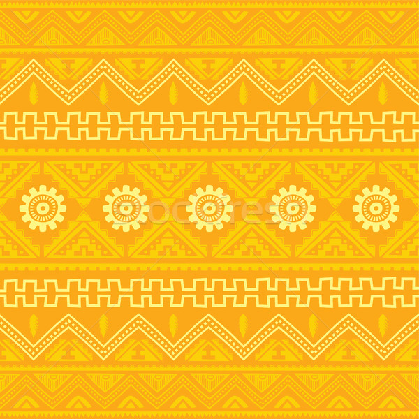 Naranja nativo americano étnicas patrón vector Foto stock © vector1st
