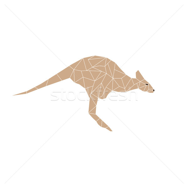 Kangaroo jump colorful mosaic pattern Stock photo © vector1st