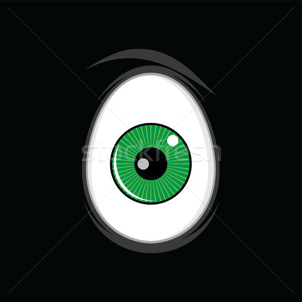 Cartoon grappig groene ogen ontwerp vector Stockfoto © vector1st