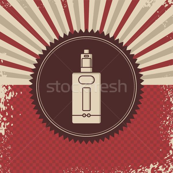 Retro elétrico cigarro vapor vida vetor Foto stock © vector1st