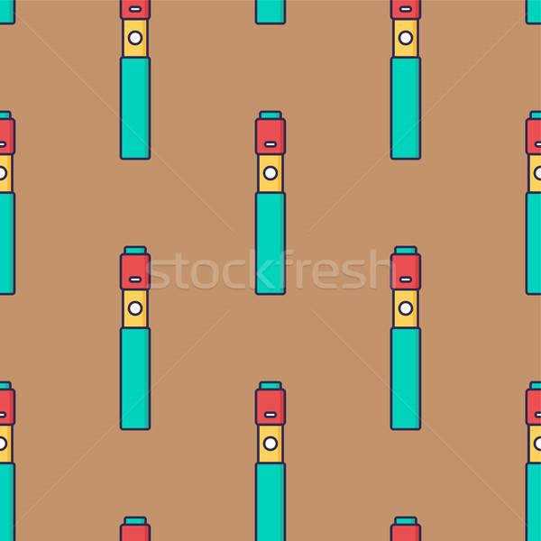 seamless pattern electronic cigarette vaporizer vector Stock photo © vector1st