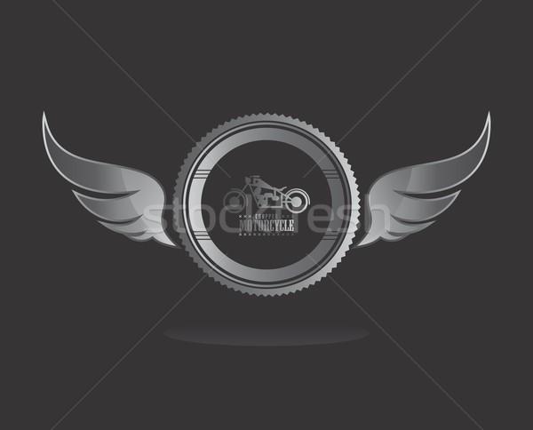 Szárny művészet vektor grafikus terv illusztráció Stock fotó © vector1st