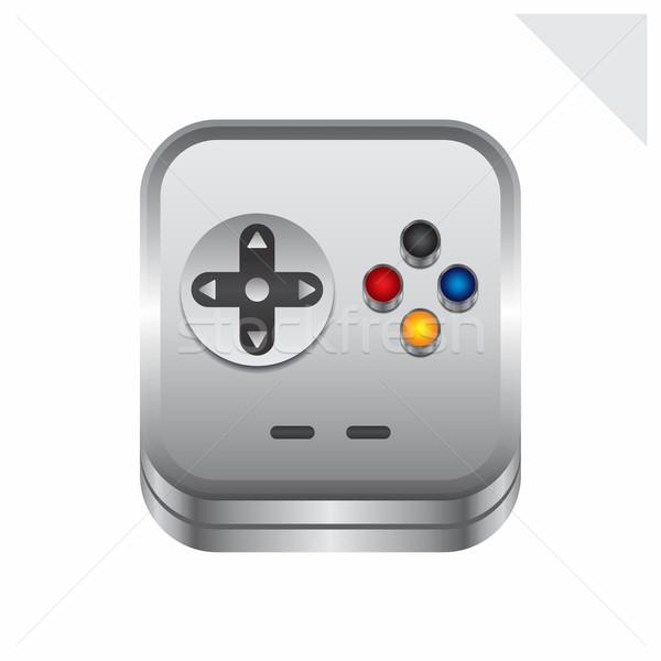 Juego consolar icono botón vector gráfico Foto stock © vector1st