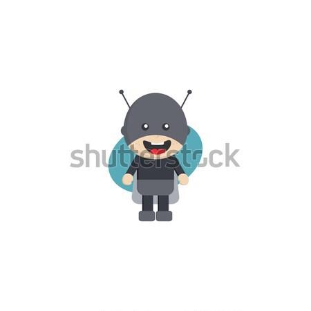 Ninja jongen cartoon vector kunst illustratie Stockfoto © vector1st