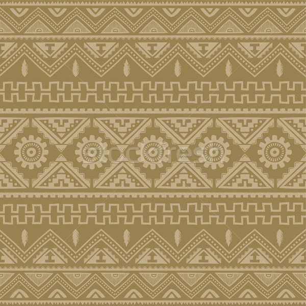 brown native american ethnic pattern Stock photo © vector1st