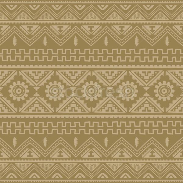 Rosolare nativo americano etnica pattern vettore Foto d'archivio © vector1st