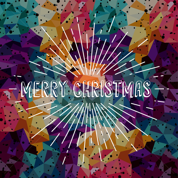 陽気な クリスマス カラフル 文字 ベクトル ストックフォト © vector1st