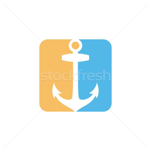 Tér doboz forma stílus modern ikon Stock fotó © vector1st