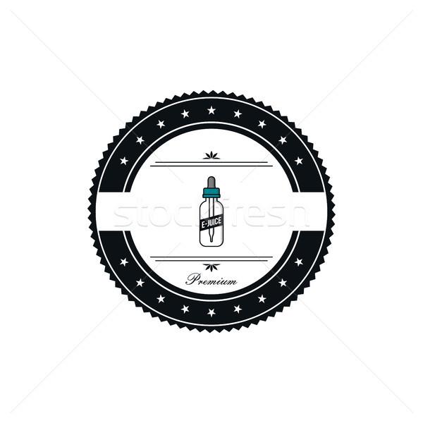 personal vaporizer e-cigarette e-juice liquid label badge set Stock photo © vector1st