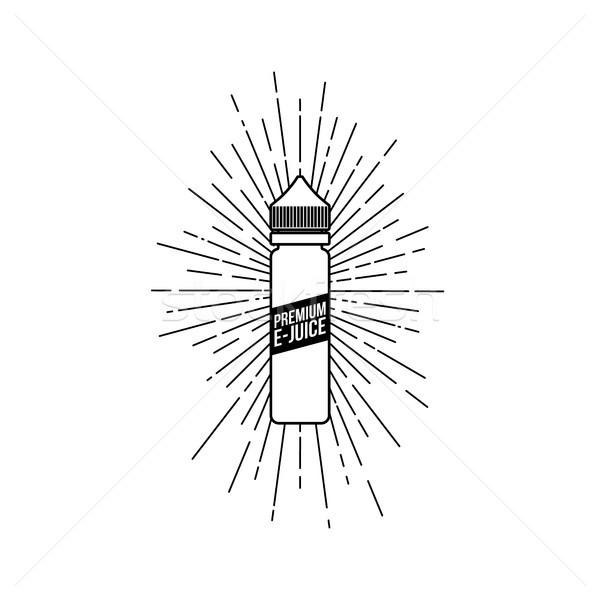 Kişisel sıvı plastik şişe kıvılcım Stok fotoğraf © vector1st