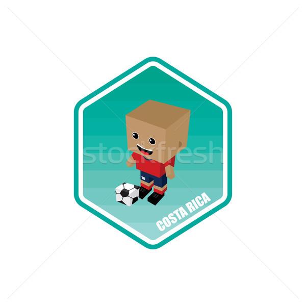 Piłka nożna izometryczny Kostaryka wektora sztuki świat Zdjęcia stock © vector1st