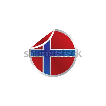glossy theme norway national flag Stock photo © vector1st