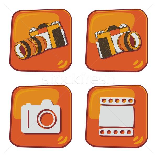 Stok fotoğraf: Medya · arayüz · kamera · vektör · grafik · sanat