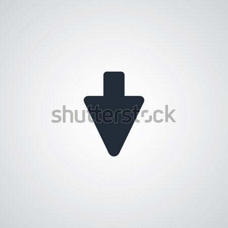 Ok ikon navigasyon vektör sanat örnek Stok fotoğraf © vector1st