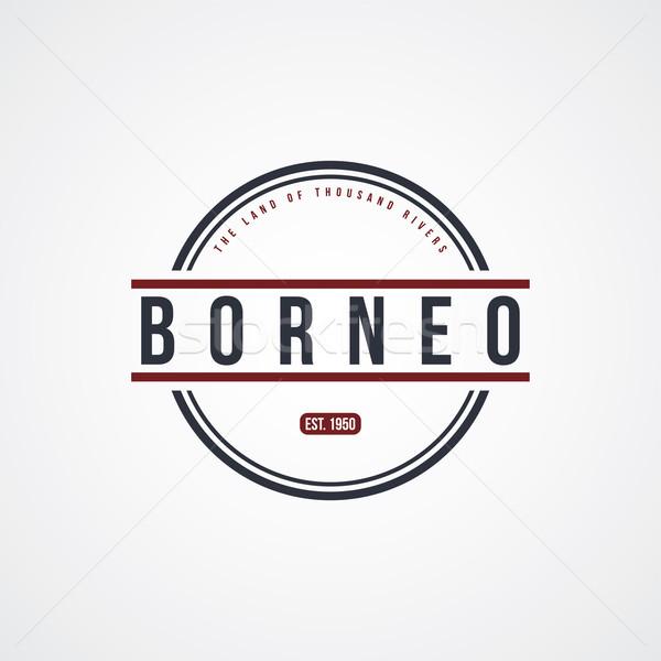 borneo badge indonesia label theme Stock photo © vector1st