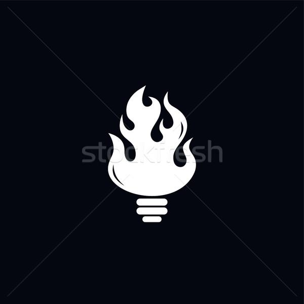 fire hot bulb theme Stock photo © vector1st