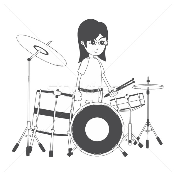 Cartoon парень характер вектора графических Сток-фото © vector1st