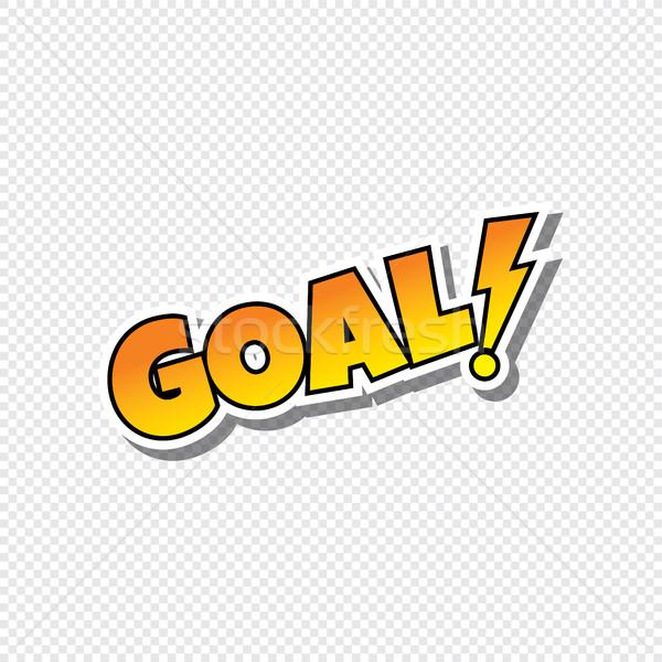 goal cartoon sport text sticker Stock photo © vector1st