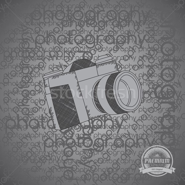 Cámara foto vídeo interfaz vector gráfico Foto stock © vector1st