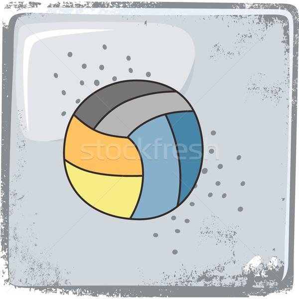 Voleybol spor grafik sanat spor soyut Stok fotoğraf © vector1st