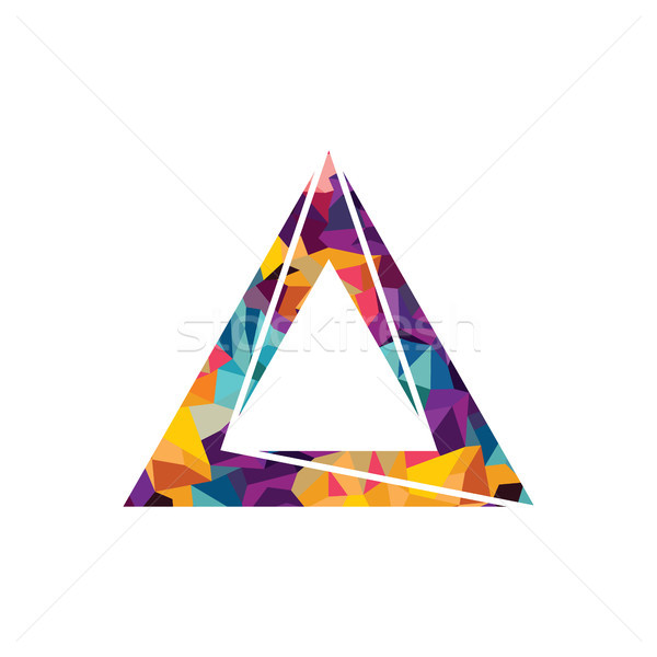 Stok fotoğraf: üçgen · logo · sanat · soyut · arka · plan