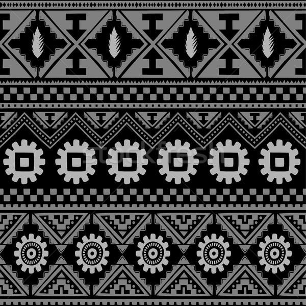 Senza soluzione di continuità nativo pattern vettore arte illustrazione Foto d'archivio © vector1st