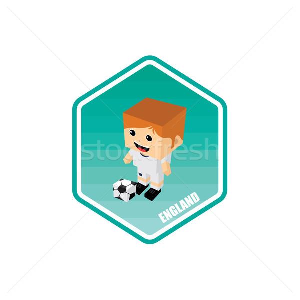 Futbol izometrik İngiltere vektör sanat karikatür Stok fotoğraf © vector1st