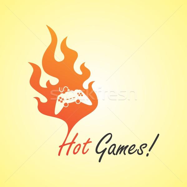 Tűz szerkeszthető vektor grafikus művészet terv Stock fotó © vector1st