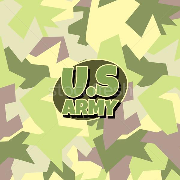 Leger camouflage vector kunst illustratie Stockfoto © vector1st