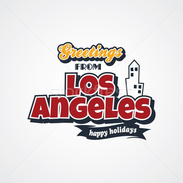 Los Angeles vakantie vector kunst illustratie Stockfoto © vector1st