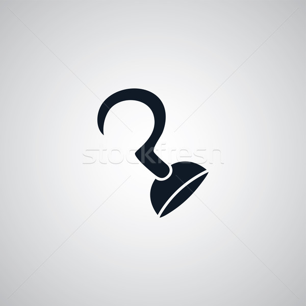 pirate hook flat icon theme Stock photo © vector1st