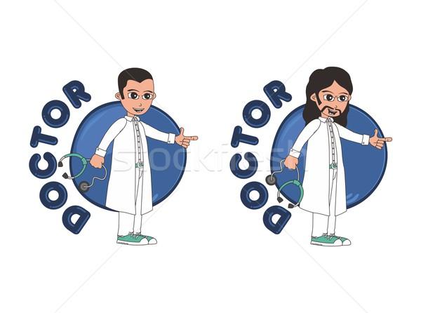 Orvos rajzfilmfigura vektor grafikus művészet illusztráció Stock fotó © vector1st
