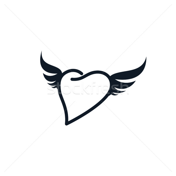 wing heart shape love Stock photo © vector1st