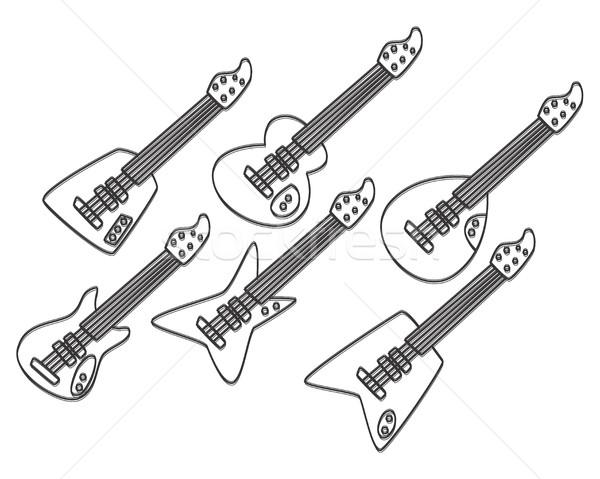 guitar art Stock photo © vector1st