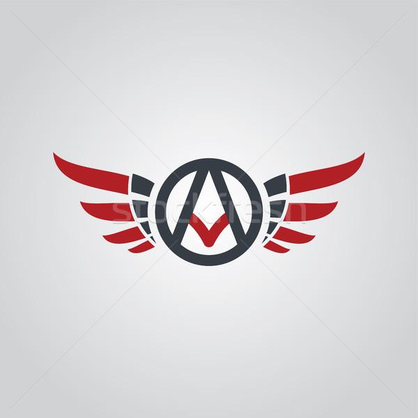Szimbólum logo logotípus üzlet terv kék Stock fotó © vector1st