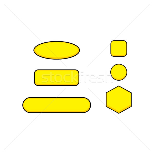 цвета игры меню икона кнопки Сток-фото © vector1st