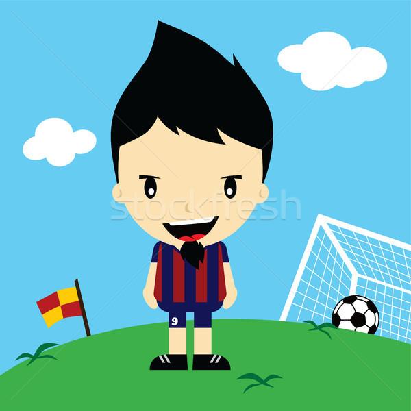 funny cartoon soccer player league vector art Stock photo © vector1st