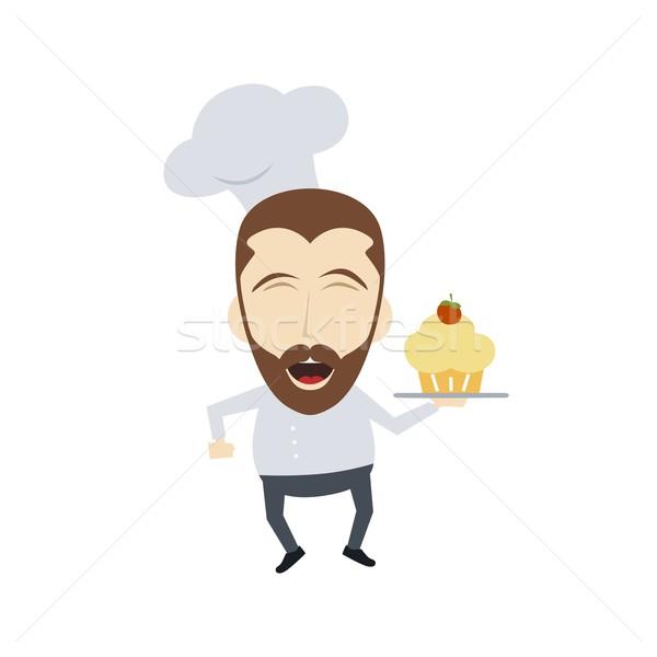 повар Cartoon вектора искусства Сток-фото © vector1st