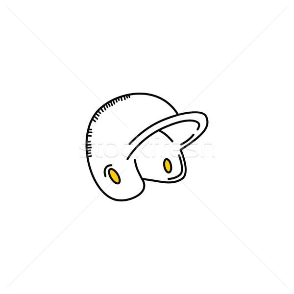 Baseball competitie helm sport vector kunst Stockfoto © vector1st