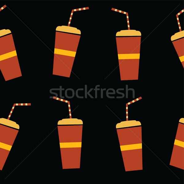 Frescos jugo beber vector arte ilustración Foto stock © vector1st