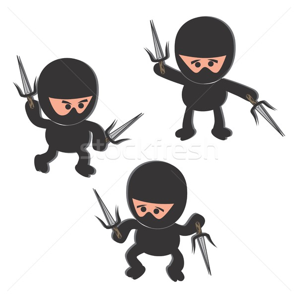 cartoon ninja Stock photo © vector1st