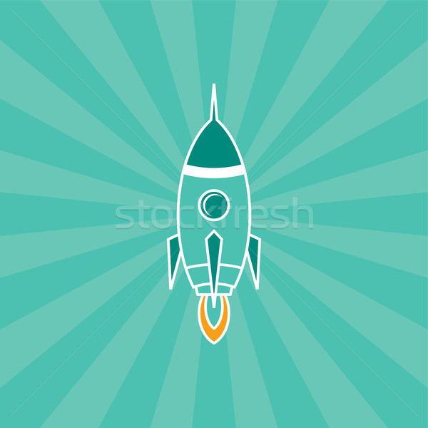 rocket ship launch Stock photo © vector1st