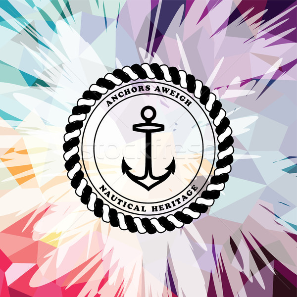 Abstract colorful anchor navy nautical theme Stock photo © vector1st