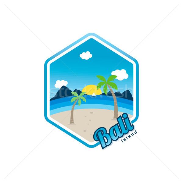 пляж время Тропический остров Бали Летние каникулы вектора Сток-фото © vector1st