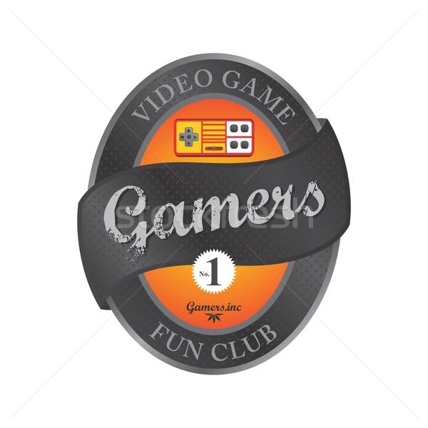 Videojáték konzol vektor grafikus művészet terv Stock fotó © vector1st